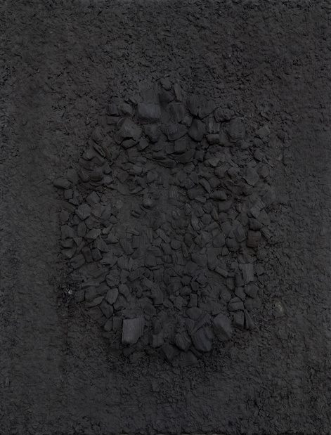 Webk97186 sans titre 95x73 cm charbon et papier hanji 2014. lee jin woo original medium