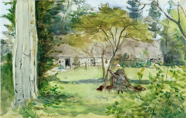 Morisot berthe paysage medium
