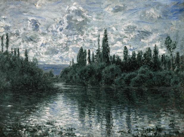 Monet claude bras de la seine medium