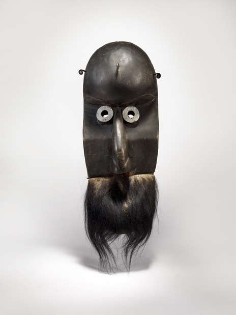 Masque anthropomorphe poro quai branly medium