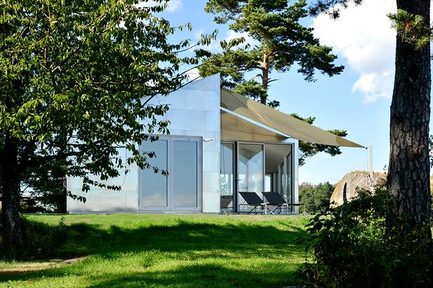 Jarmund vigsn s arkitekter aluminium cabin galerie architecture medium