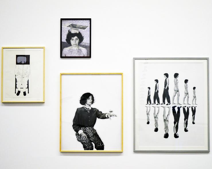 Esther Ferrer, Vue de l'exposition «Face B. Image / Autoportrait», Mac/Val, 2014