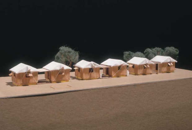 La maison des arts de malakoff architectures durgence shigeru ban paper log house medium