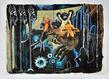 Damien deroubaix furies 20 14 aquarelle acrylique encre et collage sur papier 330 x 450 cm  pie ce unique grid