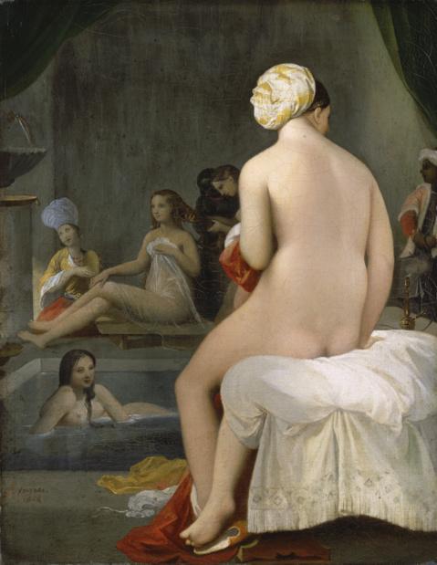 Institut du monde arabe j d ingres la petite baigneuse interieur de harem 1828 medium