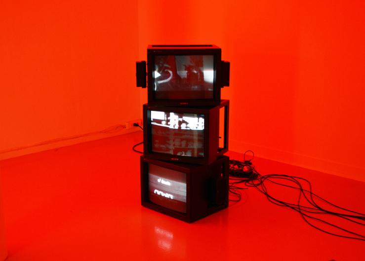 Gail Pickering, vue de l'exposition «Near Real Time», La Ferme du Buisson, 2014