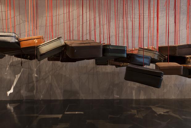 Shiota installation shot from the exhibition dialogues bd medium