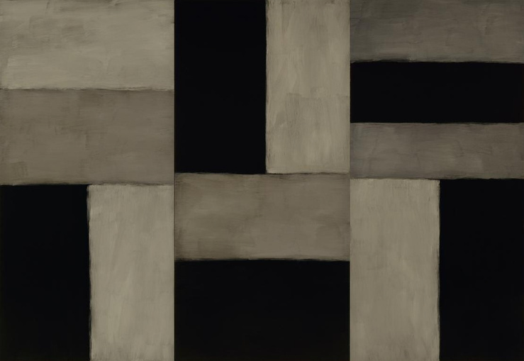 Sean Scully, Doric Angel, 2011 — Huile sur aluminium — 280 × 406 cm