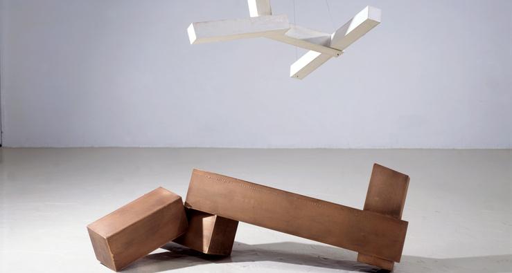 Joel Shapiro, Sans titre, 2001-2002 (Détail) — Bronze et plâtre
