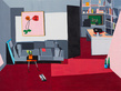 Guy yanai pink ipad on sofa 2014 oil on linen 180x240cm tiny