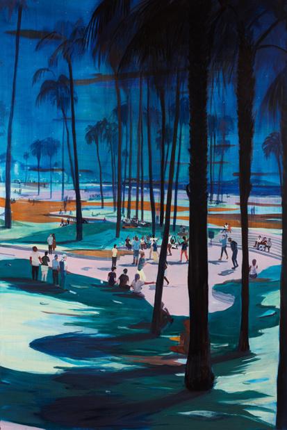 Galerie thaddaeus ropac marais jules de balincourt blue hours as far west as we could go medium