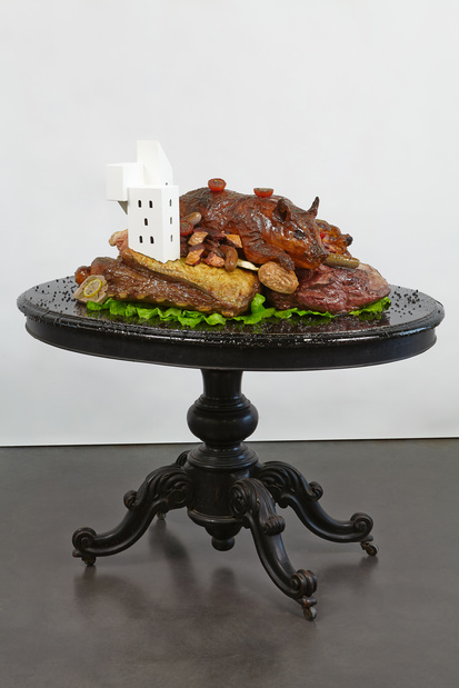 Gilles barbier habiter la viande cuite galerie vallois fiac 2014 medium