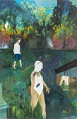 Rainbow walk huile sur panneau bois 153x 100 2013    woytek konarzewski tiny