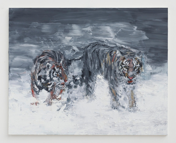 Galerie thaddeus ropac pantin eurasia a view on painting yan pei ming wild game seecond way of the tigers original medium