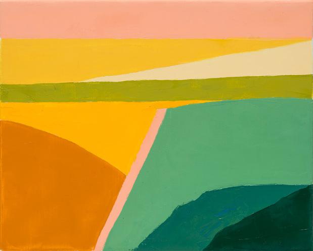 Galerie lelong etel adnan peinture huile sur toile 2014 large medium