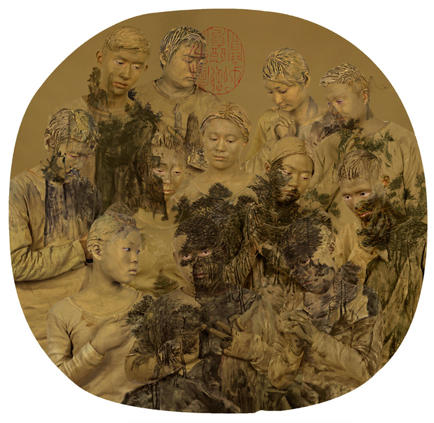 Liu bolin target chinese fans galerie paris beijing 2 medium