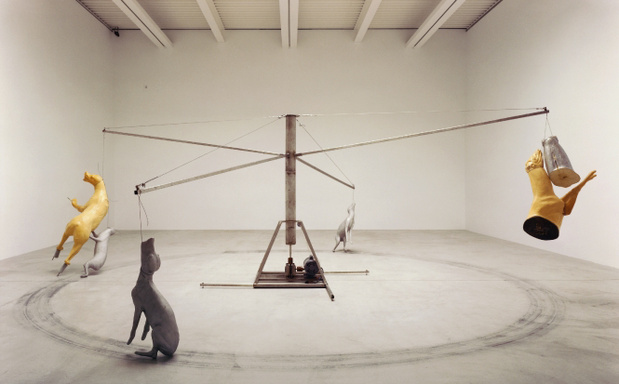 Bruce nauman carousel stainless steel version 1988 medium