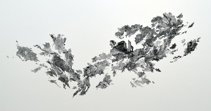 Claire Trotignon, Triple Matin, 2013—228 x 113 cm
