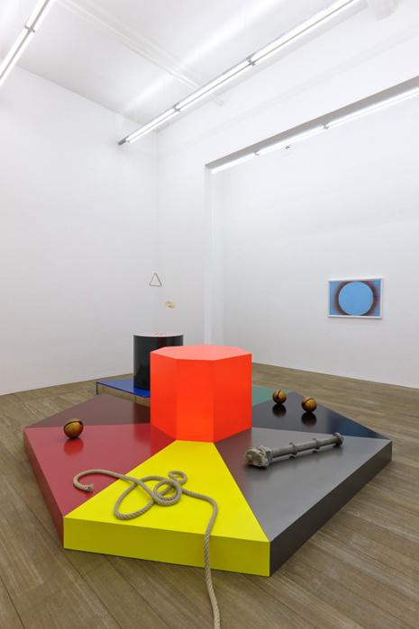 Vue d'exposition : Delphine Coindet, Brève histoire à la hache, 2012