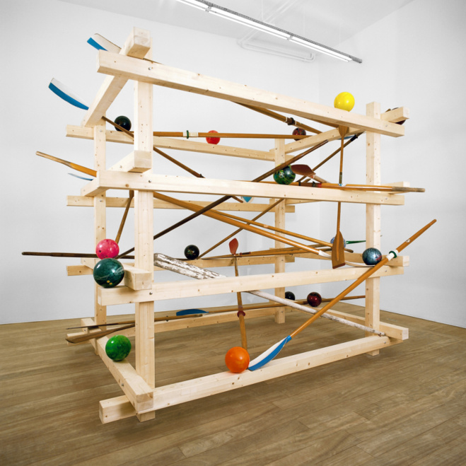 Vue d'exposition : Delphine Coindet, Solitario, 2009