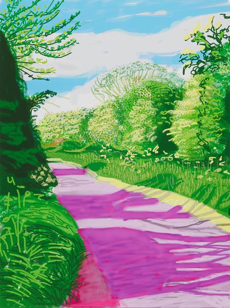 David hockney ipad drawing medium