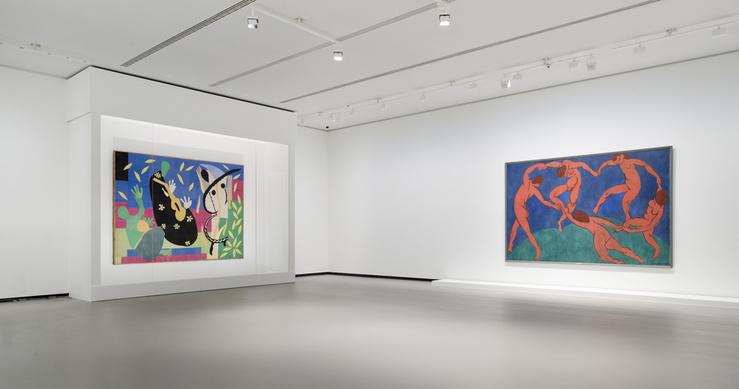 Henri Matisse, vue d'installation, exposition «Les Clefs d'une passion», Fondation Louis Vuitton, Paris