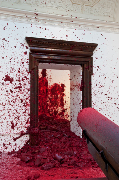 Anish kapoor shooting into the corner medium