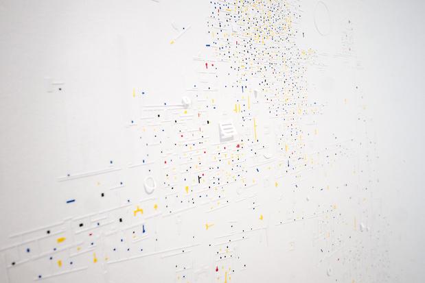 Marco maggi   galerie xippas   vue d exposition spelling  color   detail 21 m maggi xippas  ugo carmeni medium