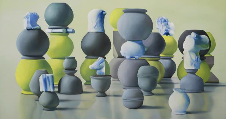 Maude Maris, Jerry, 2015 (Détail) — Huile sur toile — 130 × 190 cm