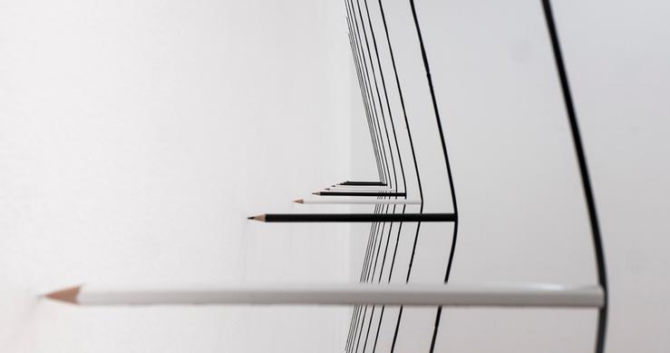 Marco Maggi, vue de l'exposition Déplier, galerie Xippas, Paris