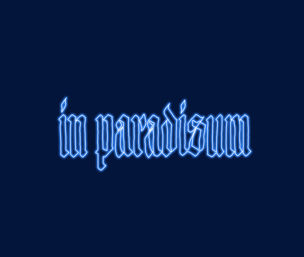 Inparadisum bleu medium