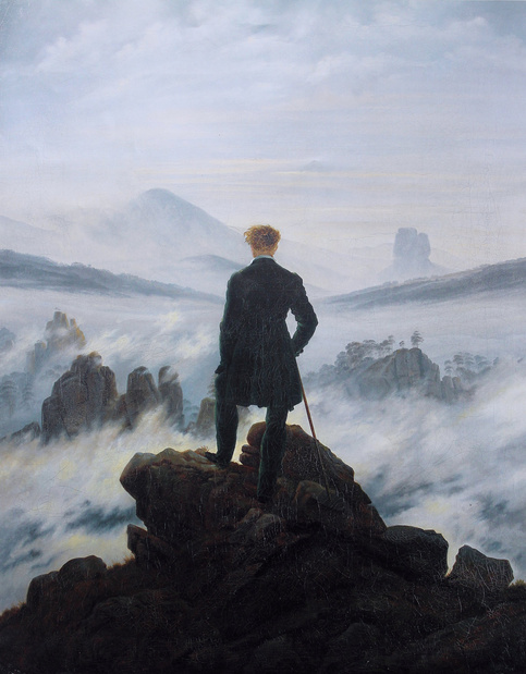 Caspar david friedrich  wanderer above the sea of fog medium