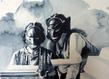 Giulia andreani les comploteuses 2015 36x48cm aquarelle sur papier courtesy galerie ma a muller paris grid