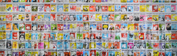 Liu bolin charlie hebdo medium