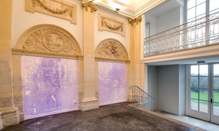 Thu Van Tran, Pénétrable, 2015 Latex, pigment — Vue d'exposition Soudain… la neige, Maison d'Art Bernard Anthonioz, Nogent-sur-Marne 5 novembre 2015 — 31 janvier 2016