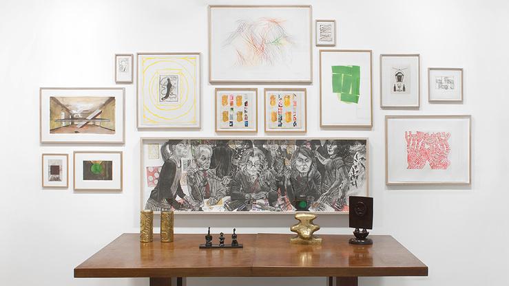 Vue de l'exposition Entre eux et moi, galerie Catherine Putman, 2015