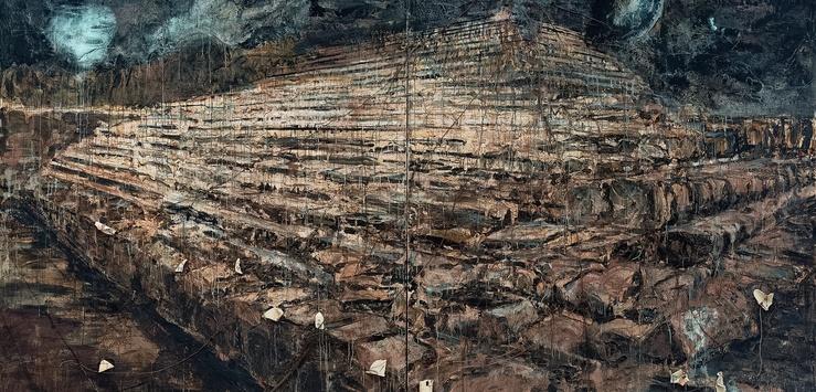 Anselm Kiefer, Osiris und Isis (détail), 1985-1987