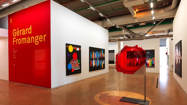 Vue de l'exposition Gérard Fromanger au Centre Pompidou