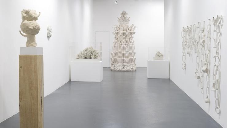 Vue de l'exposition Ceramix à La maison rouge, 2016