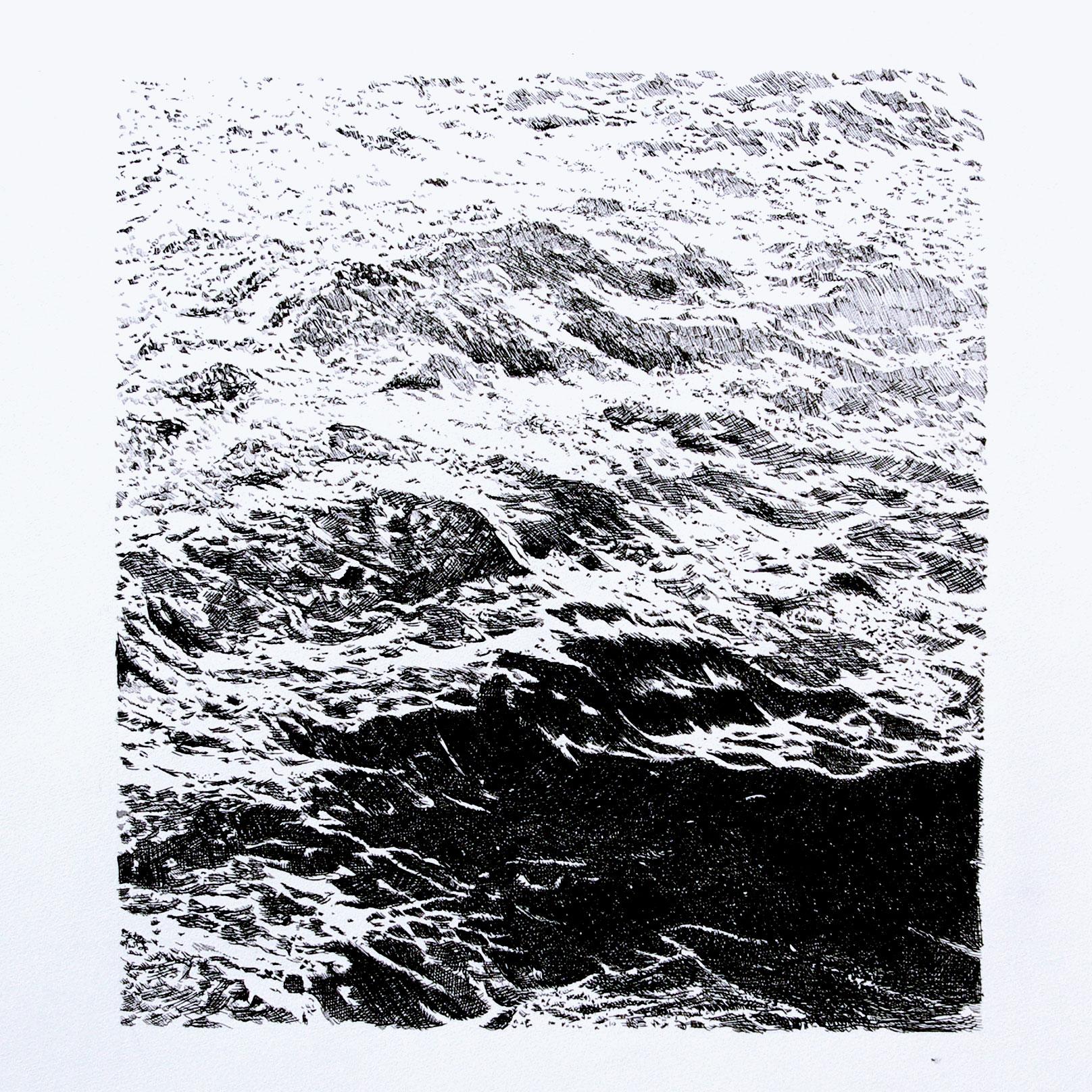 7.mer encre sur papier 50x50cm 2016 original