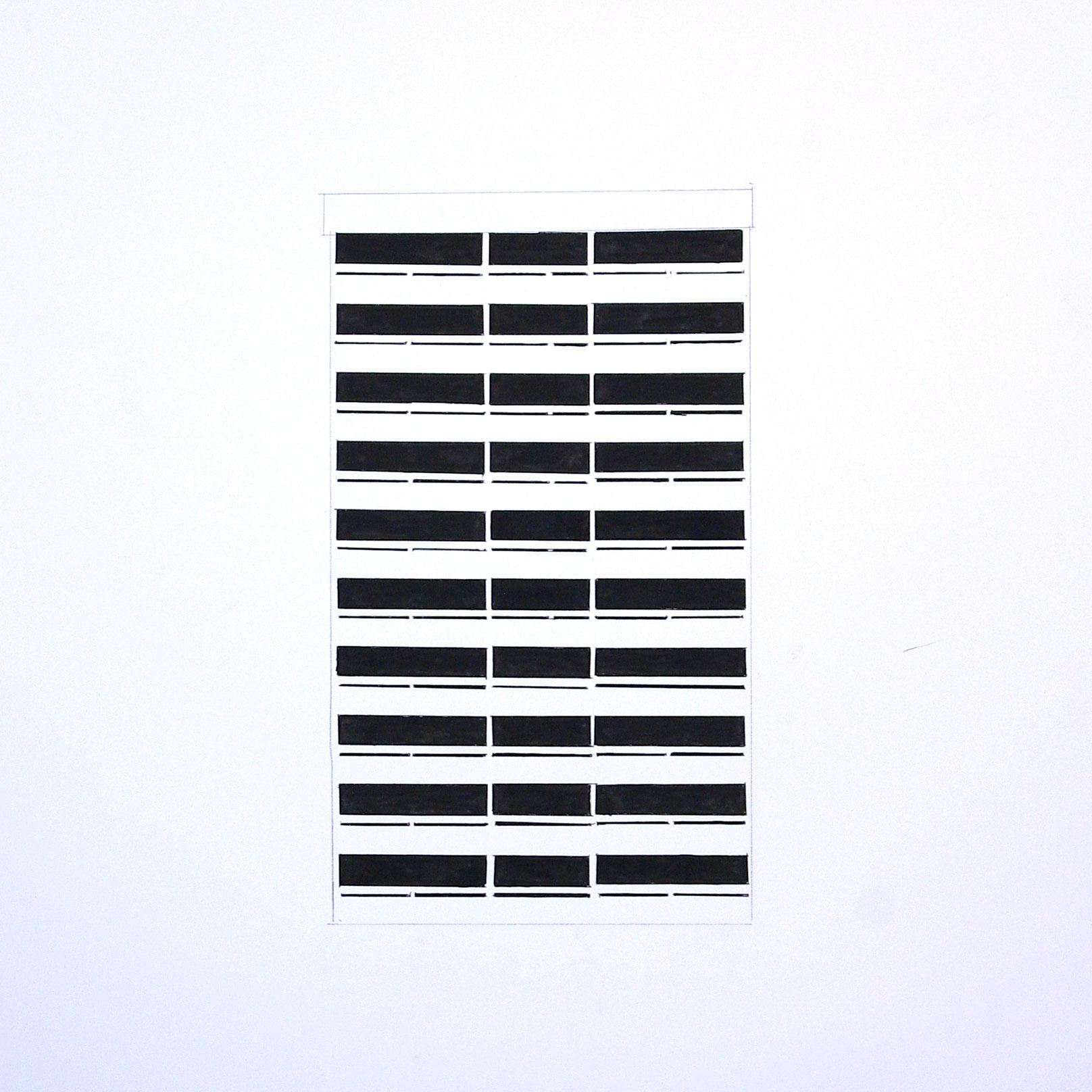 12.facade encre sur papier 50x50cm 2015 original