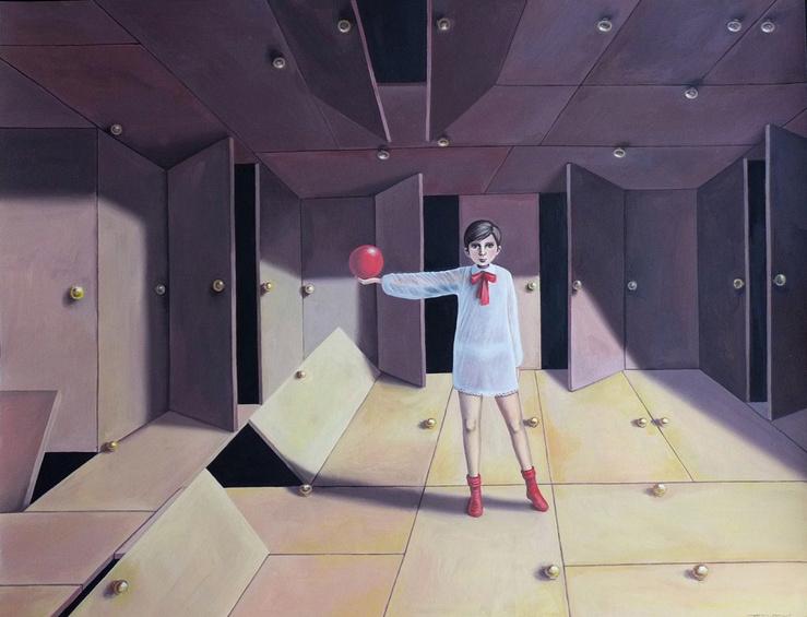 Massimiliano Esposito, Les chambres du petit garcon (série de huit dessins), 2015 — Dessin sur papier — 50 x 65 cm