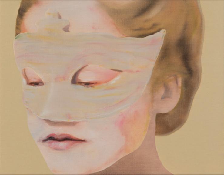 Katinka Lampe, Untitled (Détail), 2015—Huile sur toile, 40 x 50 cm