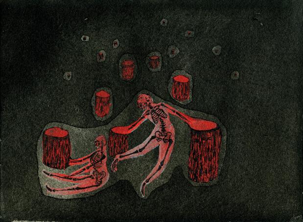 Anais ysebaert 16x21 5cm danse aux os medium