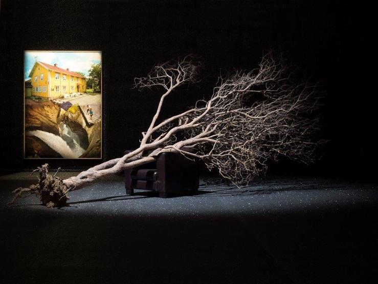 Pierre Ardouvin, vue de l'exposition Tout est affaire de décor, Mac Val, 2016