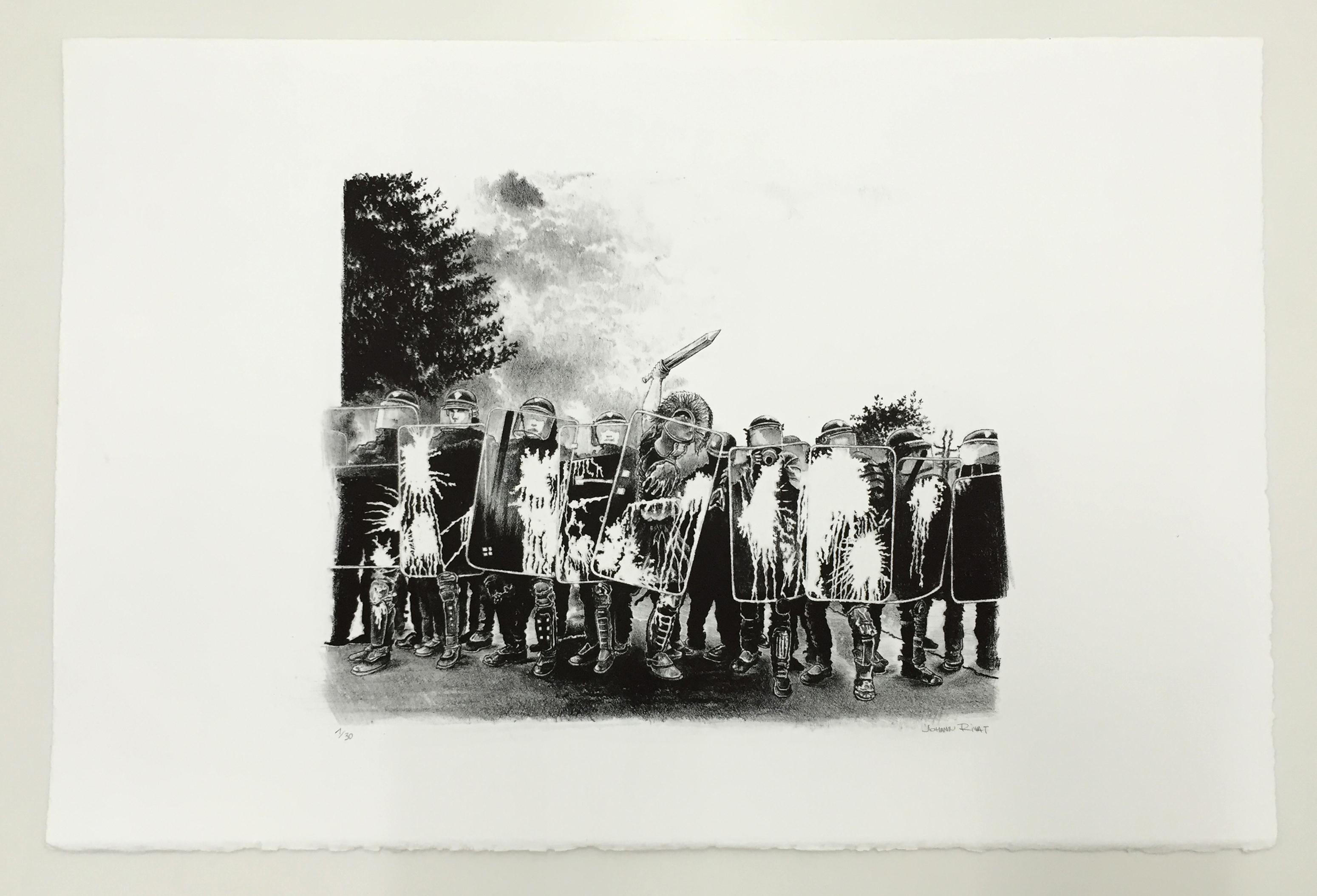 Galerie metropolis johann rivat lithographie original