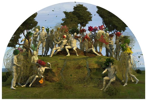 Mxc parnassus 2009 digital oil painting 205x300cm web medium