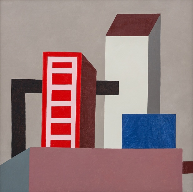 Nathalie du pasquier untitled 100x100cm oil on canvas 2015 medium