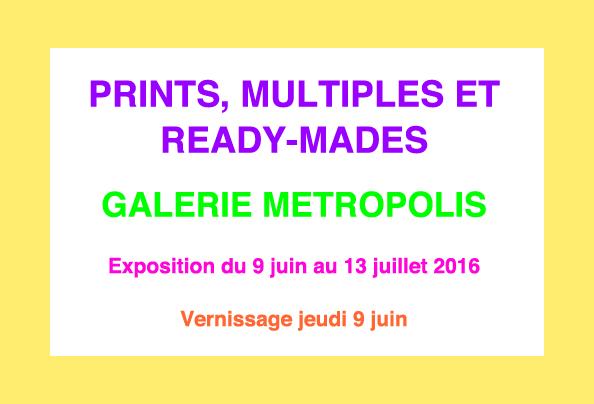 Galerie metropolis prints carton verso original