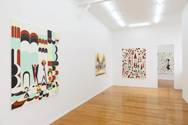 Galerie xippas farah atassi vue exposition medium